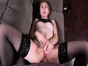 Step Sis Stretched Pussy Getting Romp Like A Spread Eagle