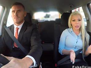 Huge Cock Driving Examiner Bangs Busty Blonde