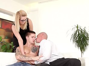 MMF Bicurious Hunks Trio With Fetish Spex Sweetie