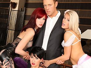 Rocco Plows Three Girls