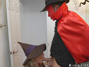 Blonde Witch Milf Bang Teens At Halloween