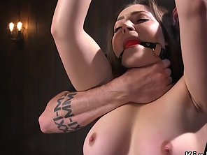 Slave Beauty Gets Feet Tormented