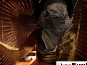Dani Daniels A Trapped Bitch Inside A Dog Cage