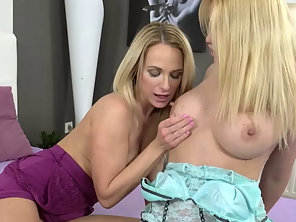 Blonde Lesbians Enjoying Fisting