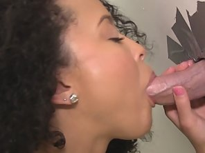 Ebony Babe Mia Having Fun With Cock In Glory Hole