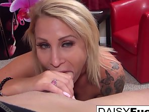 Tattooed Babe Daisy Monroe Jerked Her Partner Big Cock