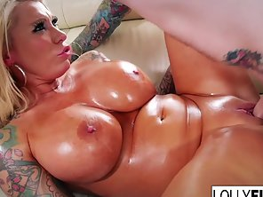 Horny Tattoed MILF Lolly Ink Loves Her Yummy Pussy Fucked Hard