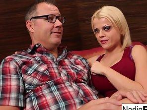 Blonde Babe Nadia Fucks Her Shy And Nerdy Neighbor