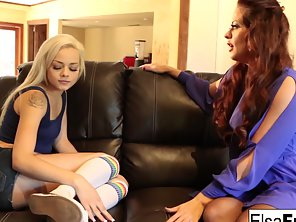Elsa Receives A Tough Lesson From Her Busty Tutor Holly