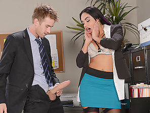 Gorgeous Selena Gets Spanked In The Ass And Fucked By A Large Dick