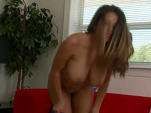 Brunette Big Tit Milf Plays With Pussy
