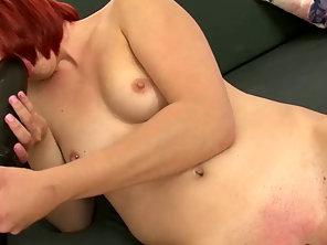 Redhead Bangs Her Juicy Vagina