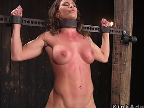 Busty Toned Slave Dp Toyed