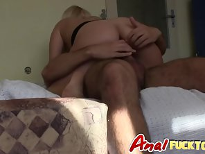 Striptease Blonde Sucks Long Boner With Anal Plowed