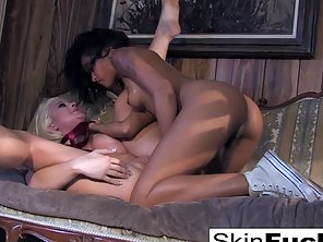 Ebony Chick Is Ready For Lesbian Adventure With Blonde Babe