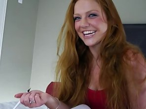 Sensual Amateur Has A Mane Of Red Hair