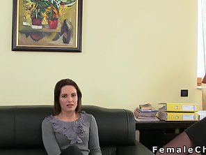 Small Tits Brunette Banging At Casting