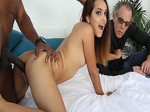 Big Black Cock Fucks Esperanza Del Hornos Pussy From Behind