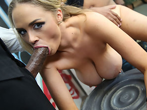 Katie Kox Lined Up By Many Black Dudes That She Suck And Fuck