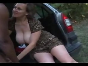Outdoor Interracial With Norwegian Mature