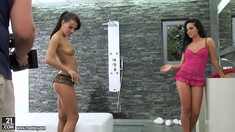 Bettina Dicapri And Amabella Showering And Making Love