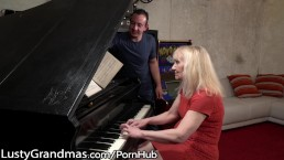 LustyGrandmas Lucky Stud Fucks Mature Piano Teacher