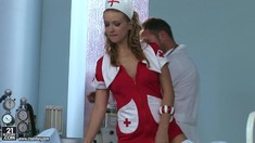Backstage Of Slutty Nurse Roxie Getting Screwed