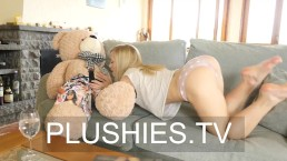 Blonde Model Sicilia Watching Porno And Fucking With Teddy Bear Carlos