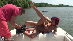 Outdoor Anal In The River With Redhead Patricia Gold
