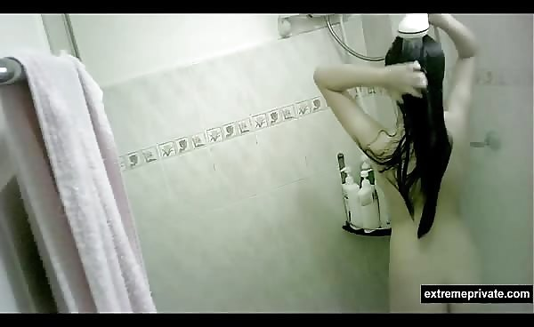 Asian Niece 19 Spied While Showering