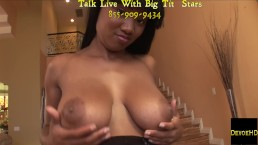 Bubble Butt Ebony Teen Gets Her Pussy Ready For Cock