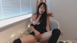 Asian Girl Confessing Her Love For Big White Cocks JOI