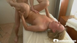 Pleasuring A Thirsty Blonde With His Hard Cock