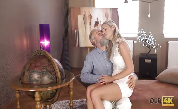 OLD4K. Handsome Old Dad Satisfies Winsome Mistress In…