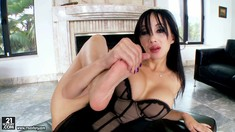 Exotic Pornstar Katsuni Shows Her Feet And Pussy