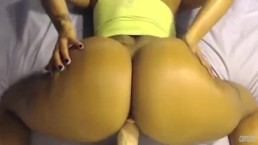 Thick Latina Riding Dildo