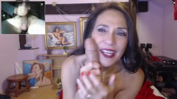 Someone's Mom Riding A Dildo While Worshiping My Huge Dick On Cam