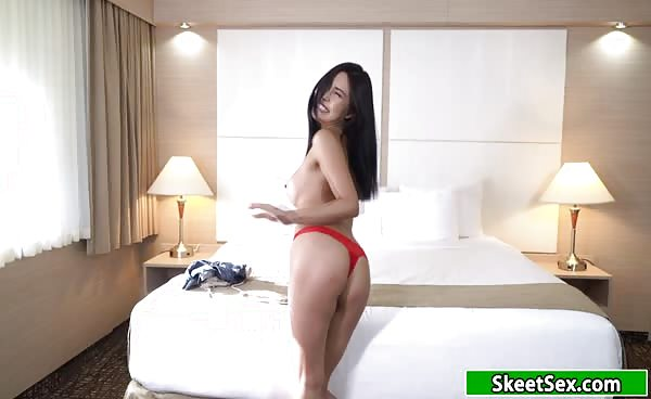 Sexy 18yo Asian Sucking And Fucking Big Cock For Cash