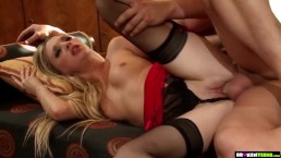 BrokenTeens – Doll-like Blonde Teen Masturbates Before Getting Fucked Hard