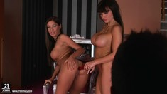 Huge Tits Lesbians Aletta Ocean And Angelica Heart
