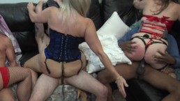 Atlanta Swinger Couples Play A Game Of Musical Cocks!