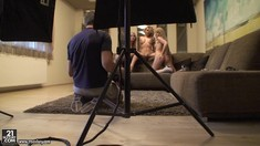 Lesbian Backstage Of Cindy Hope, Lana S And Zorah White