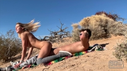 Fucking And Sucking In The Sand Dunes At The Park