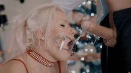 Santa Came Earlier. Extreme Sloppy Deepthroat In Tight Cuffs And Mouth Gag