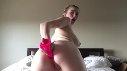 Teen Stretches Virgin Ass With Dildo