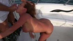 Young Wife Blows Husbands Friend In The Middle Of A Boat Party (CUMSHOT)