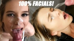 100% Facials Part 1: So Much Cum For My Pretty Face! Kinkycouple111