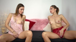 Beautiful Twin StepSisters Masturbate Together – 4K