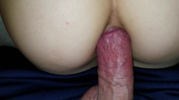 Stuck Little Stepniece Gets A Dripping Anal Creampie POV