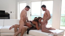 Adriana Chechik Has Triple Anal With James Deen Chris Strokes John Stronge